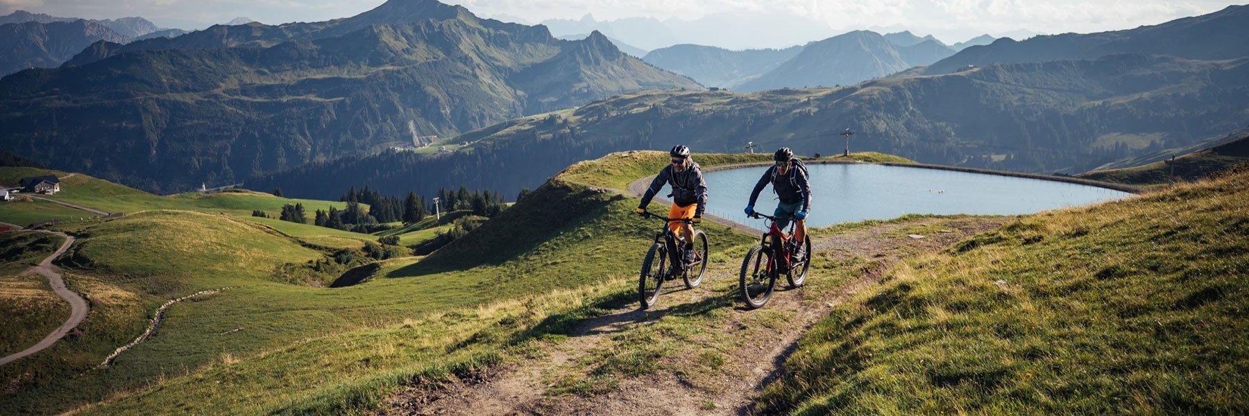 Mountainbiken in Damüls