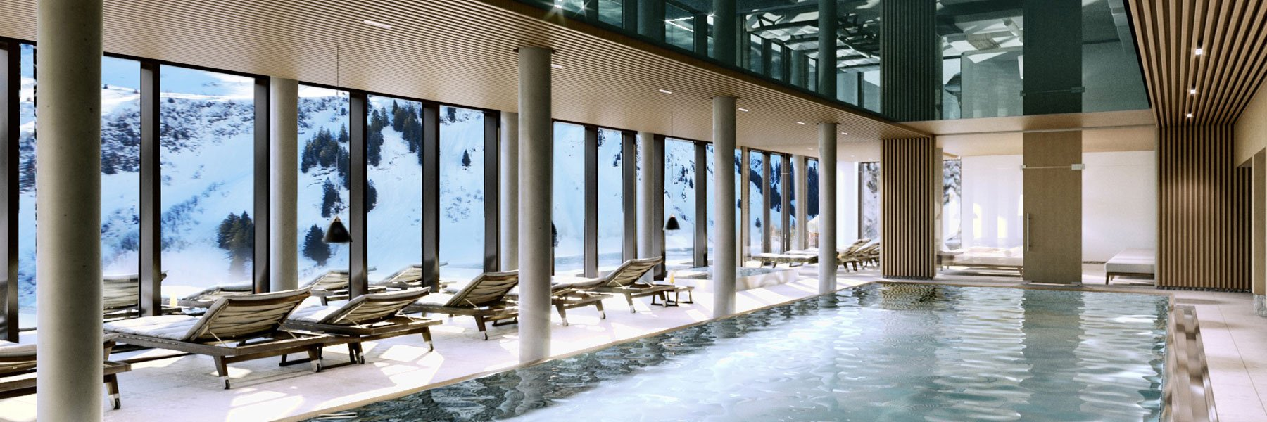 Indoorpool im Panoramahotel Alpenstern